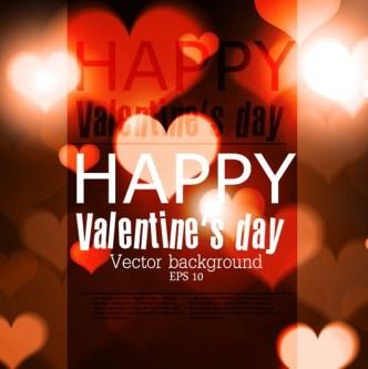 Elegant Happy Valentine's Day Background Vector 03
