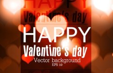 Elegant Happy Valentine's Day Background Vector 03