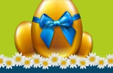 Happy Easter Card Background Vector 03