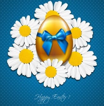 Happy Easter Card Background Vector 05