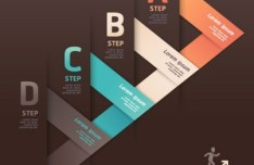 Step Up Options For For Infographic Vector