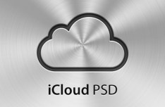 Metal iCloud Icon PSD