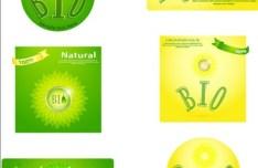 Natural BIO Concept Vector Labels