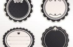 Set Of Vintage Vector Labels 03
