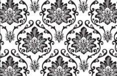 Sketch Hand Drawn Florals Background Vector 02
