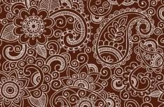 Sketch Hand Drawn Florals Background Vector 03