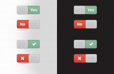 Toggle Sliders UI PSD