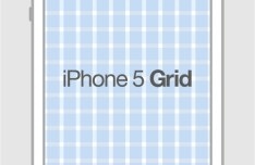 iPhone 5 Grid Template PSD