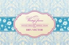 Vintage Heraldic Imperial Frame Vector 01