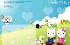 Hello Kitty Template PSD
