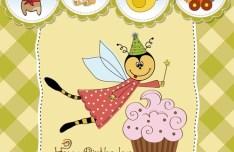 Lovely Happy Birthday Vector Illustration 04