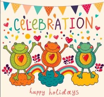 Vector Happy Holiday Cartoon Animals For Kids 04