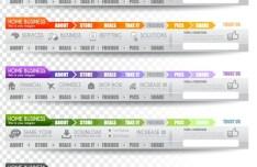 Creative Website Menu Designs Vector 02