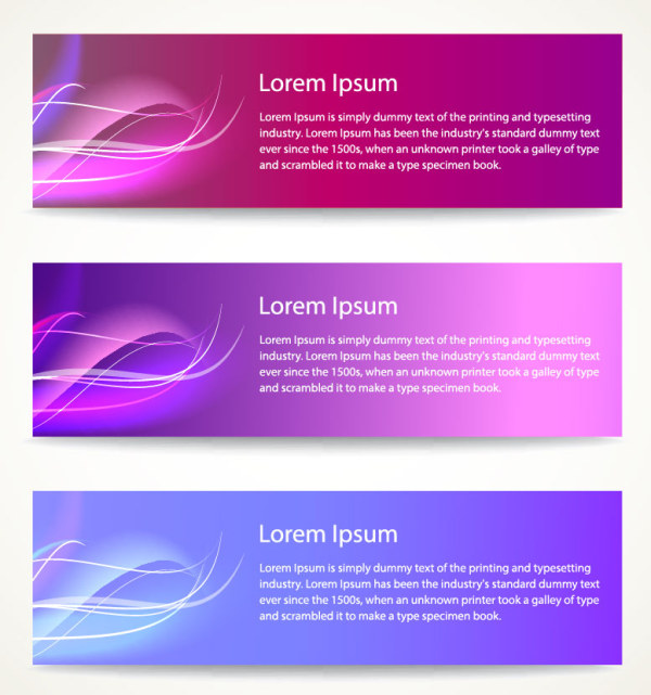 Set Of Vector Colorful Banners with Abstract Background 01