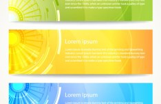 Set Of Vector Colorful Banners with Abstract Background 04