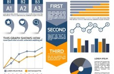 Vector Blue Infographic Template For Displaying Data