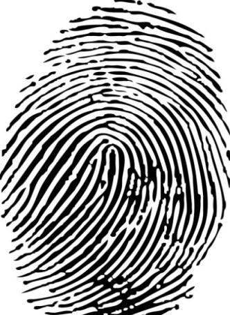 Black adn White Fingerprint Vector 01