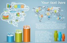 Creative 3D Infographic Template Vector 02