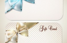 Graceful Gift Cards with Bows Vector