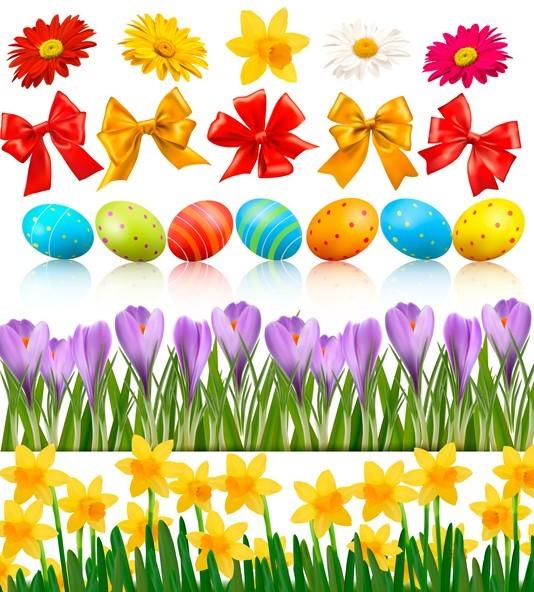 Happy Easter Design Elements Vector 01