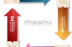 Colored Numeric Labels For Infographic 01