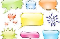 Lovely Cartoon Speech Bubbles Vector 05