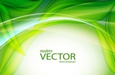Vector Abstract Background With Green Leaves 02