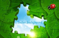 Vector Green Earth Concept Background 04