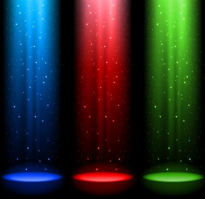 Colored Stage Spotlights Vector 05