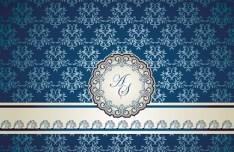Noble and Elegant Invitation Card Cover Design Vector 03