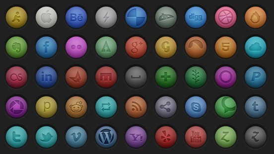 Silky Smooth Social Icon Pack (PSD)