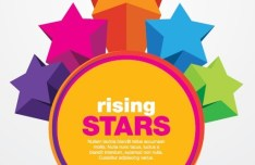Colorful Rising Stars Vector