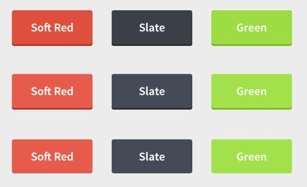 Simple Web Buttons Template PSD