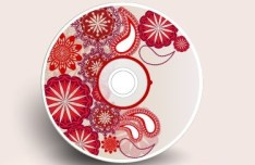 Vector Disc Cover with Floral Background 02