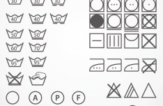 Vector Simple Washing Tag Symbols