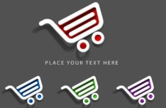 Vector Colored Shopping Cart Labels