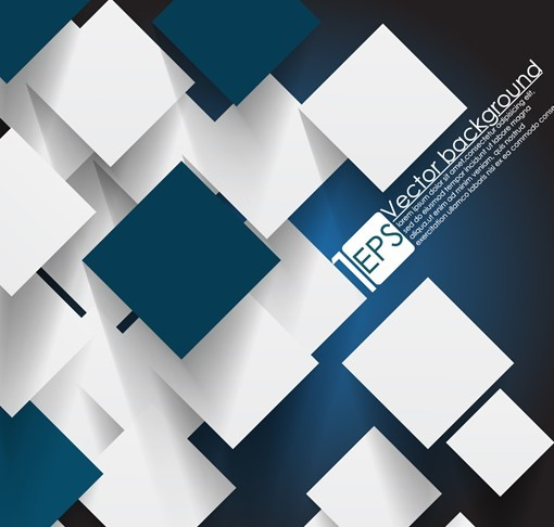 Free Vector Abstract Technology Background With 3D Squares