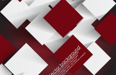 Vector Abstract Technology Background with 3D Squares 09