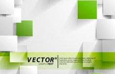 Vector Abstract Technology Background with 3D Squares 11