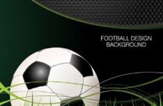 Vector Football Design Background 01