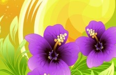 Colorful Spring Flowers Vector Background 04