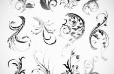 Set Of Black Patterns Design Vector Illustration 04