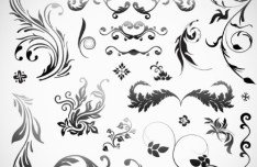 Set Of Black Patterns Design Vector Illustration 05