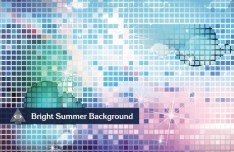 Bright Mosaic Vector Background 04
