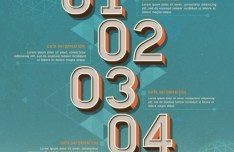 Colored Numeric Labels For Infographic 08
