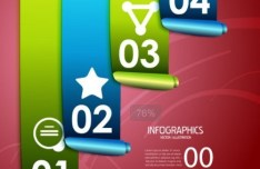 Colored Numeric Labels For Infographic 19