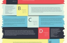 Colored Numeric Labels For Infographic 30