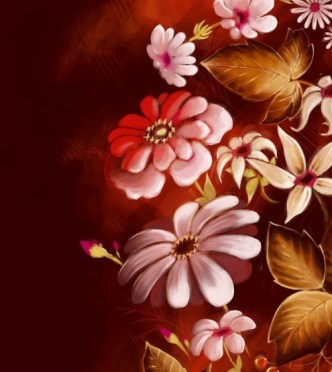 Fantastic Vintage Vector Flowers 01