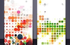 Set Of Vector Banners with Colored Splash Designs 02