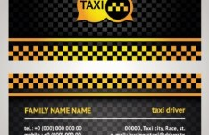 Vector Taxi Driver Business Card 01